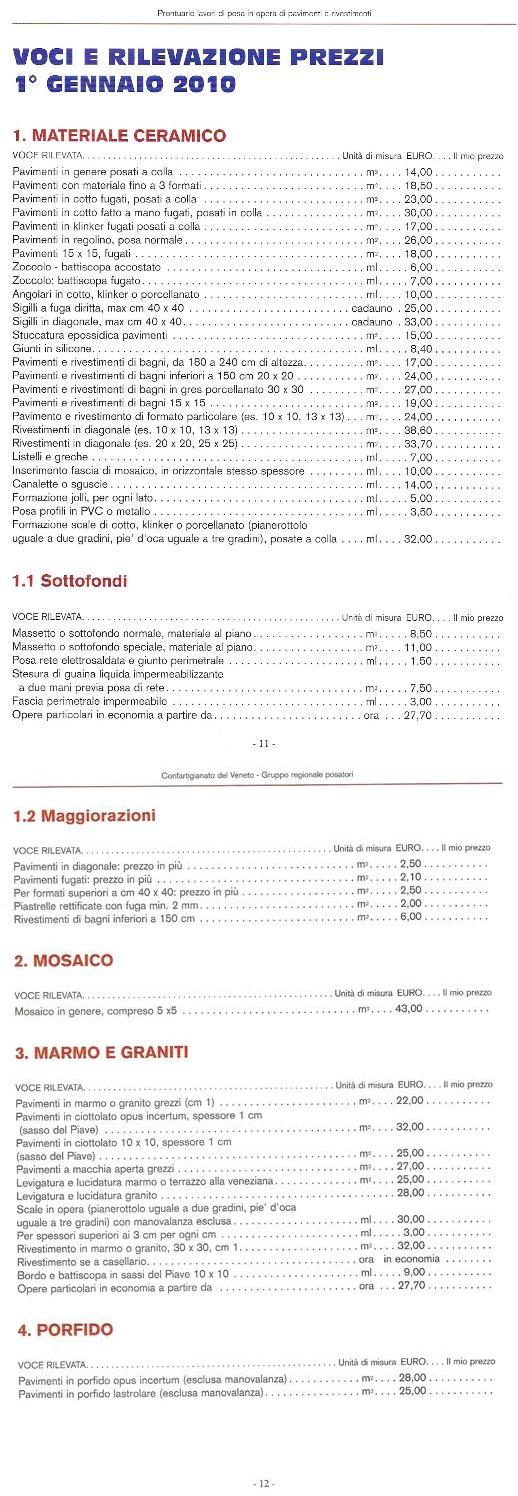 Prezzi posa piastrelle con tabella indicativa - Piastrellista prezzi ...